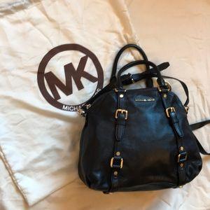 NWOT Michael Kors Black Leather Bedford Satchel